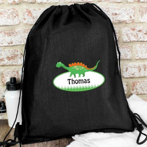Dinosaur Black Swim & Kit Bag